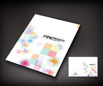 色彩方块宣传册封面