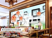 唯美大气3D立体空间浪漫花朵背景墙
