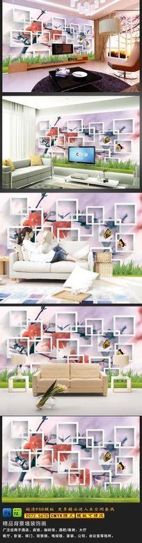 12款 时尚3D立体客厅沙发背景墙