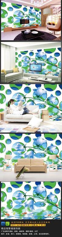 11款 客厅3D电视背景墙图片