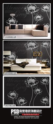 黑色时尚卧室背景墙