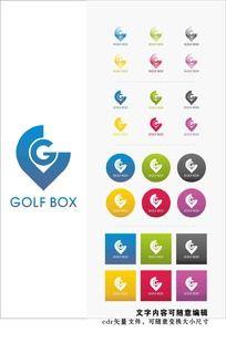高尔夫logo标志 CDR