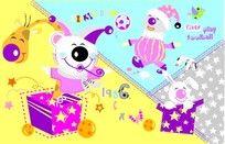 卡通兔子形象图案