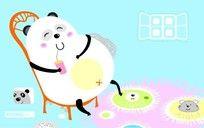 卡通熊猫图案 CDR