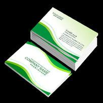 简洁绿色环保行业名片