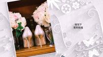 唯美白色雪花图案婚礼相册AE模板含音乐
