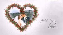 我的爱婚礼相册片头AE模板含音乐