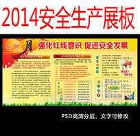 2014安全生产月宣传栏展板