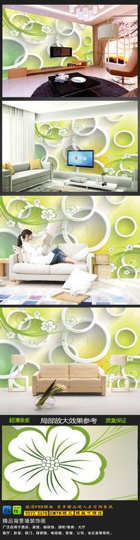 客厅3D简约电视背景墙图片