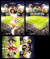 世界杯酒吧活动海报宣传单