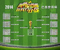2014巴西世界杯赛程图表