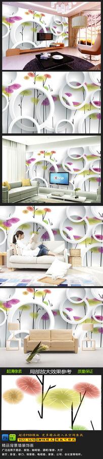 10款 3D简约电视背景墙