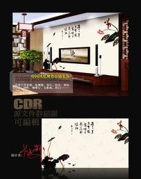 中国风花鸟画电视背景墙