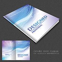 蓝色动感科技背景画册设计模版 PSD