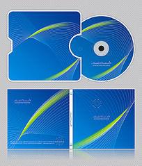 蓝色企业科技光盘设计