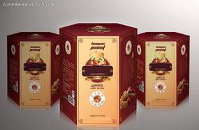 坚果食品礼盒矢量素材