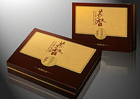 茶叶皮盒包装PSD分层文件