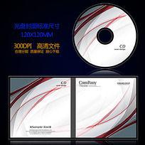 灰色动感线条光盘封面设计 PSD