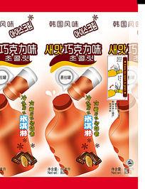 巧克力味棒冰饮料包装设计