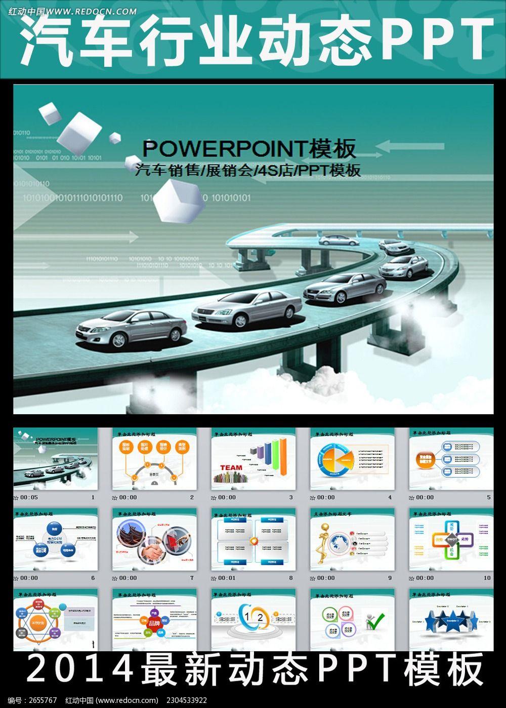 汽车生产销售动态ppt模板