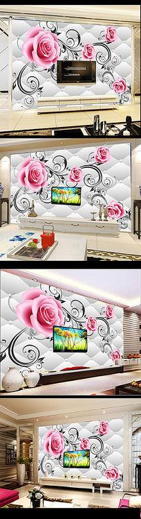 12款 时尚3D立体客厅电视背景墙花纹