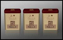 铁盒茶叶包装PSD分层文件模板