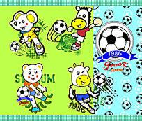 动物足球世界杯插画设计