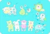 11款 卡通动物印花图案CDR下载