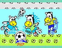 小马足球图案设计