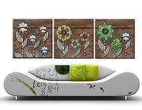 花卉花朵剪贴画无框画PSD分层模板