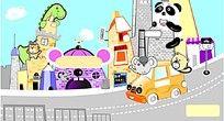 卡通儿童乐园插画设计