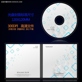 唯美白色简洁时尚光盘封面设计 PSD