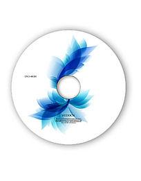 蓝色花纹dvd光盘封面模板
