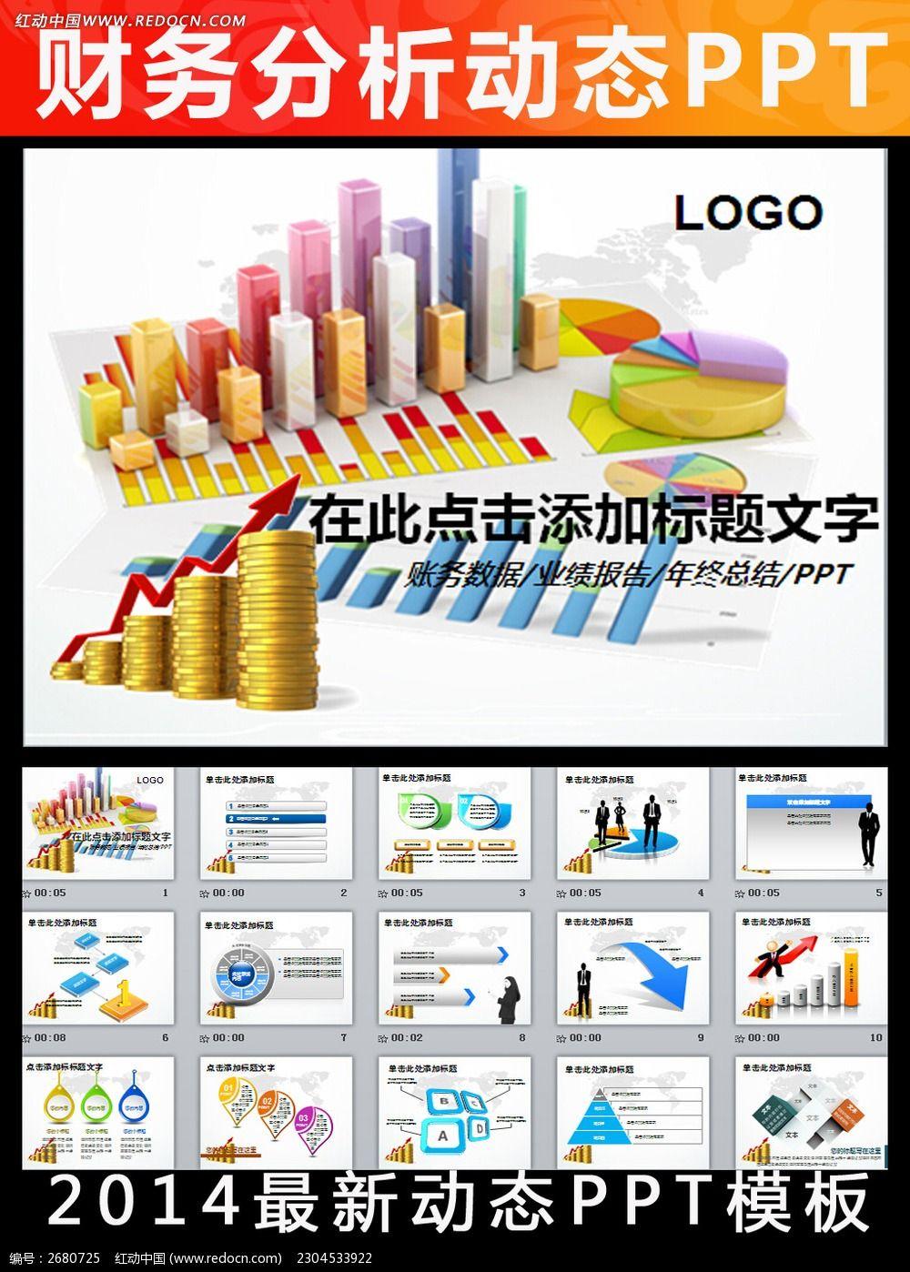 财务数据分析调研报告市场销售业绩ppt