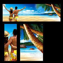 沙滩风情背景