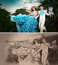 唯美中国风水墨婚礼ae模板