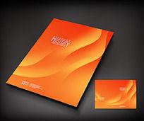 橙色曲线艺术封面