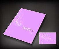 粉色艺术封面设计