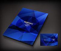 蓝色方形艺术封面