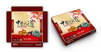 中国味道中秋月饼包装素材