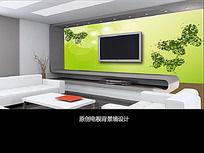 蝴蝶创意电视背景墙