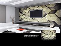 几何图案立体空间背景墙