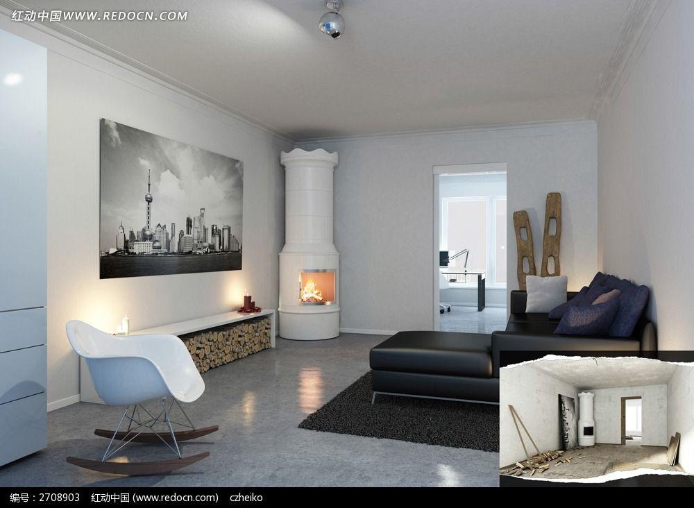 室内客厅装修后_3d模型/3d素材图片素材