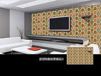 时尚创意圆圈电视背景墙