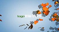 树叶logo演绎ae模板
