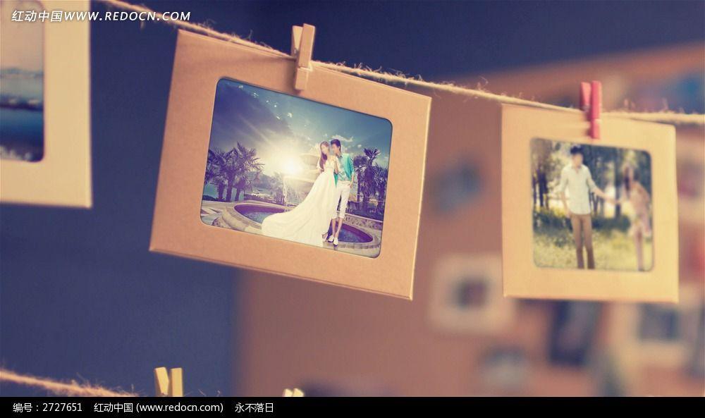 婚礼片头家庭电子相册ae模板图片