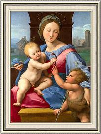 欧洲古典妇女油画装饰画