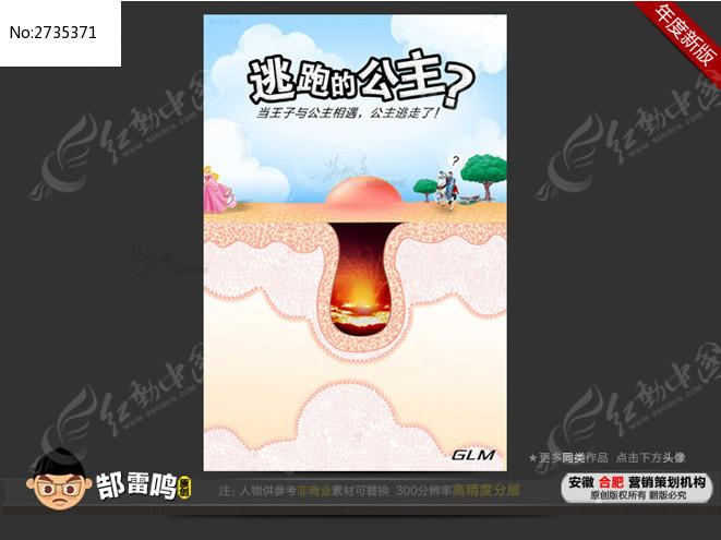 祛痘产品宣传海报图片