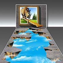 犀牛悬崖3D艺术展 TIF