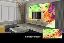 抽象几何图案电视背景墙